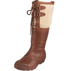 Brown Ugg Belcloud Sheepskin Duck Boots